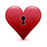 Valentinstaginnerschlüsselloch Stockfotos