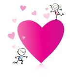 Valentinstagkarikatur Stockfoto