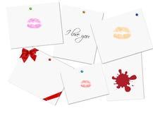 Valentinstagkarte Lizenzfreie Stockfotos