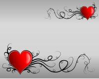Valentinstagkarte lizenzfreie abbildung