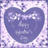 Valentinstagkarte - Blumensammlung Stockfotografie