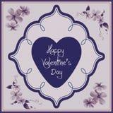 Valentinstagkarte - Blumensammlung Lizenzfreies Stockbild