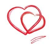 Valentinstagkarte. eps10 Lizenzfreie Stockbilder