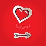 Valentinstagkarte zu Lizenzfreie Abbildung