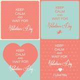 Valentinstagkarten Stockfotografie