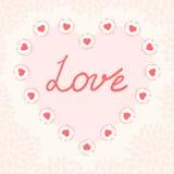 Valentinstagkartenschablone Stockfoto