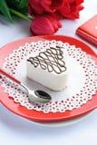Valentinstagkuchen Lizenzfreie Stockfotos
