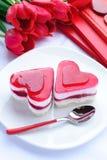 Valentinstagkuchen Stockfoto