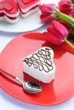 Valentinstagkuchen Stockbild