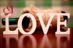 Valentinstagliebesform Stockfotografie
