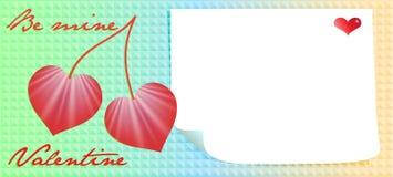 Valentinstagmitteilung Lizenzfreie Stockfotografie