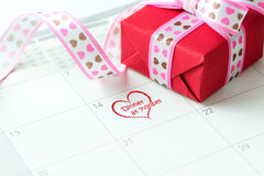 Valentinstagnachtdatum Stockfoto