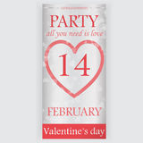 Valentinstagparteiflieger Stockfotos