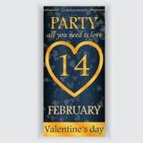 Valentinstagparteiflieger Lizenzfreie Stockfotos