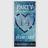 Valentinstagparteiflieger Lizenzfreies Stockbild