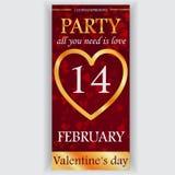Valentinstagparteiflieger Stockbild