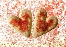Valentinstagplätzchen Stockbild