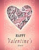 Valentinstagplakat. Lizenzfreie Stockbilder
