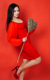 Valentinstagporträt Lizenzfreie Stockbilder