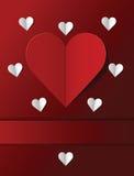 Valentinstagpostkarte Stockfotos
