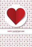 Valentinstagpostkarte Lizenzfreies Stockfoto