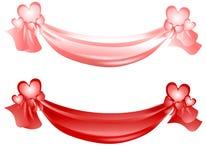 Valentinstagswag-Farbbänder und Bögen Lizenzfreies Stockfoto
