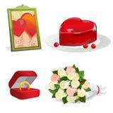 Valentinstagvektorset Stockfotografie