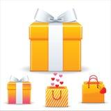 Valentinstagverkaufseinkaufstasche Stockfotografie