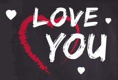 Valentinstagwunschkarten-Vektorillustration Stockfotografie