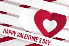 Valentinstagwunschkarten-Vektorillustration Lizenzfreie Stockfotografie