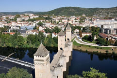 Valentre bridge in Cahors, France royalty free stock photos