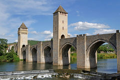 The Valentre Bridge Royalty Free Stock Images