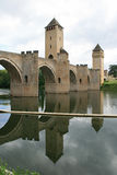 Valentre bridge - Cahors - France Stock Images