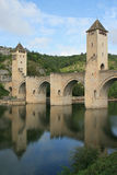 Valentre bridge - Cahors - France (3) Royalty Free Stock Images