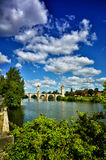 Valentre bridge, symbol of Cahors town, France Royalty Free Stock Images