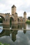 Valentre most Cahors, Francja - Obrazy Stock