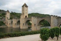 (2) Valentre most Cahors, Francja - Zdjęcie Royalty Free