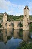 (3) Valentre most Cahors, Francja - Obrazy Royalty Free