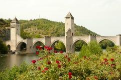 Valentre most Cahors, Francja - Obrazy Royalty Free
