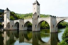 Valentre most Cahors, Francja - Zdjęcia Royalty Free
