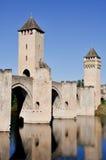 Valentre most w Cahors, Francja Fotografia Stock