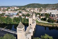 Valentre most w Cahors, Francja Zdjęcia Royalty Free