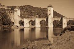 Valentre most w Cahors miasteczku, Francja Zdjęcie Royalty Free
