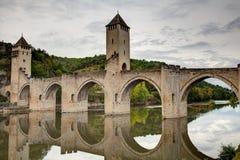 Valentre przerzuca most Francja - Cahors w udziale - Fotografia Royalty Free