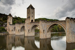 Valentre przerzuca most Francja - Cahors w udziale - Obraz Royalty Free