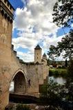 Valentre przerzuca most, symbol Cahors miasteczko, Francja Zdjęcia Royalty Free