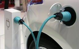 Valeo elektrisches Fahrzeugsystem an der Paris-Autoausstellung Lizenzfreie Stockfotografie