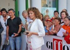 Valeria Golino alGiffoni filmfestival 2011 Royaltyfri Foto