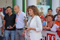 Valeria Golino alGiffoni filmfestival 2011 Royaltyfria Bilder