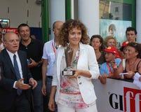 Valeria Golino alGiffoni filmfestival 2011 Arkivbild